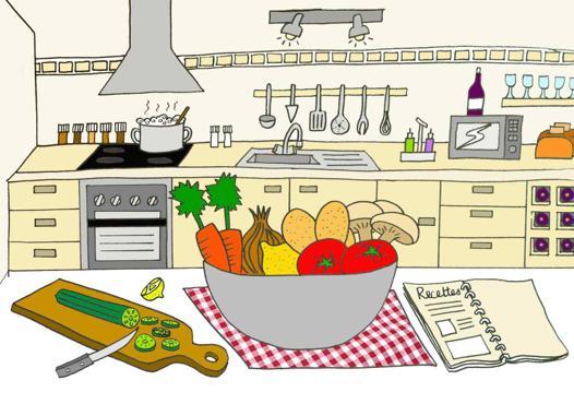 dessin cuisine