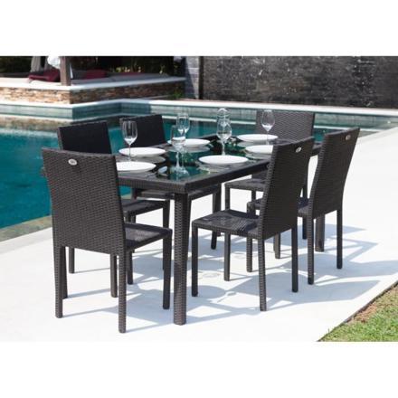 ensemble table et chaise de jardin