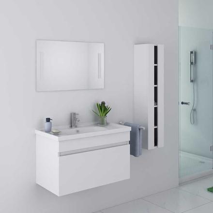 meuble blanc salle de bain