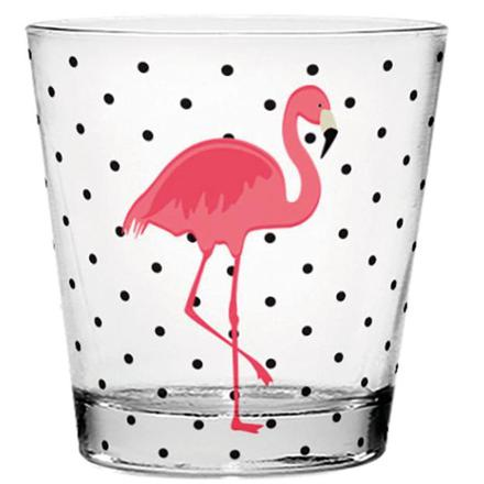 verre flamant rose