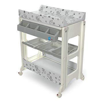 baignoire bébé table à langer