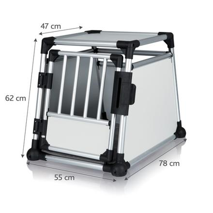 cage transport chien aluminium