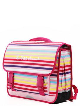 cartable little marcel rose