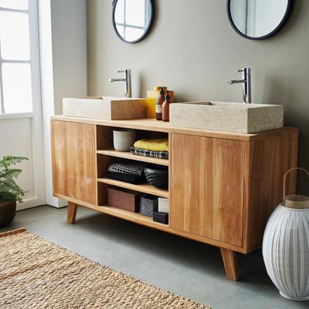 meuble de salle de bain sur pied