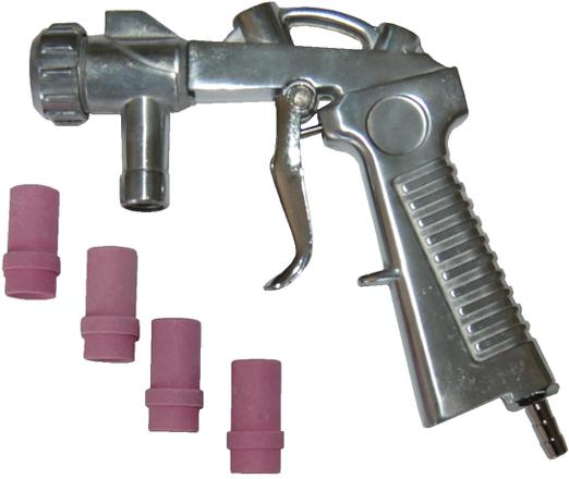 pistolet de sablage