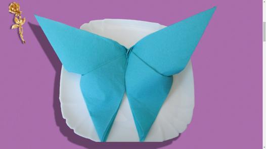 serviette papillon