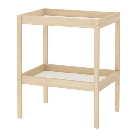 table a langer en bois