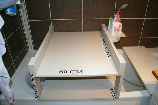 table a langer sur baignoire