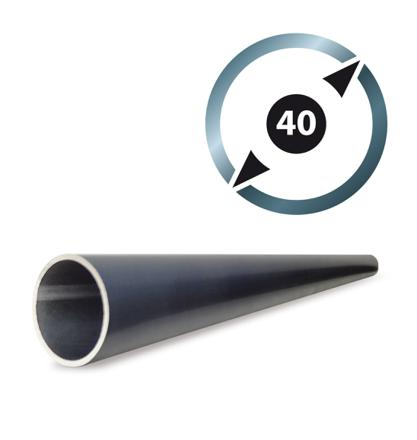 tube aluminium rond 40 mm