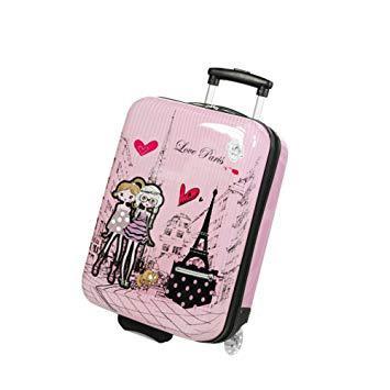 valise enfant rose