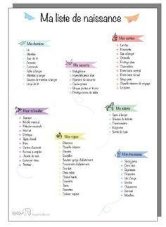 créer sa liste de naissance