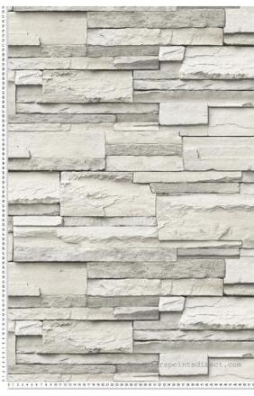 papier peint pierre relief